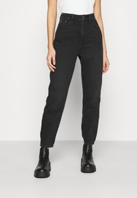 River Island - Relaxed fit jeans - washed black - 0
