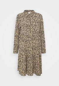 JDYPIPER  DAYDRESS - Shirt dress - silver mink/black leo
