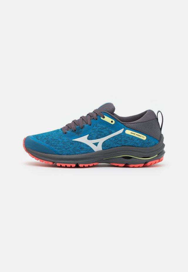 WAVE RIDER TT 2 - Chaussures de running - diva blue/dawn blue/hot coral