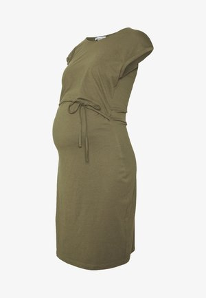 NURSING Jersey dress - Trikoomekko - burnt olive