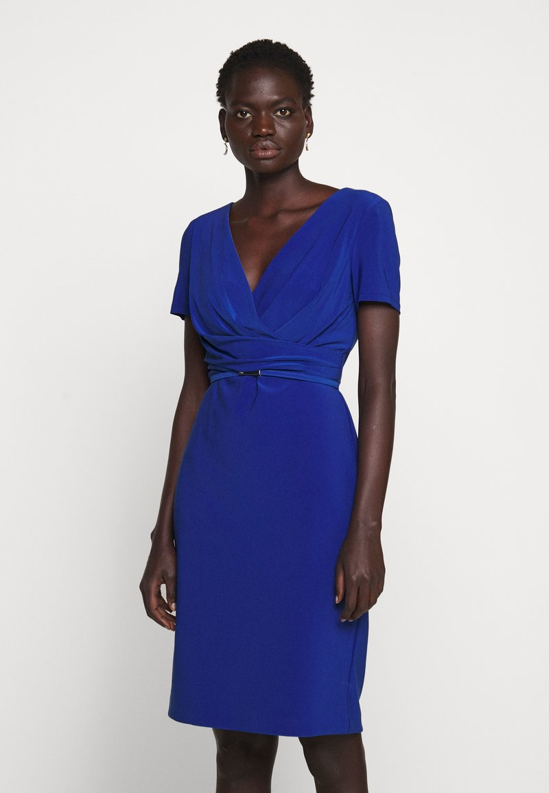 Lauren Ralph Lauren - ALEXIE SHORT SLEEVE DAY DRESS - Etuikjole - summer sapphire
