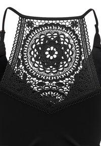 Cache Coeur - MATERNITY TANKINI WITH FIXED PADS SET - Bikini - black - 4