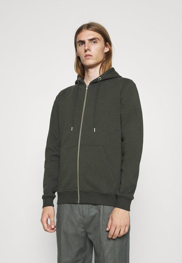 PAUL AARON HOODIE - Zip-up hoodie - olive