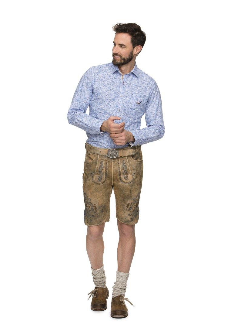 Stockerpoint - ARON - Kožené kalhoty - hanf gespeckt gelb