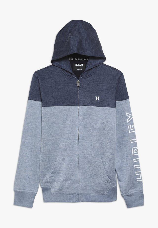 SOLAR ZIP FRONT HOODIE - Zip-up hoodie - delft heather