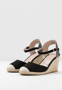 Miss Selfridge Wide Fit - WIDE FIT WORK WEDGE - Korolliset sandaalit - black - 4