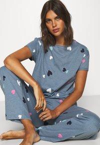 Marks & Spencer London - HEART  - Pyjamas - blue mix - 3