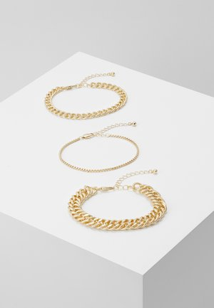 PCCHAIN BRACELET 3 PACK - Náramek - gold-coloured