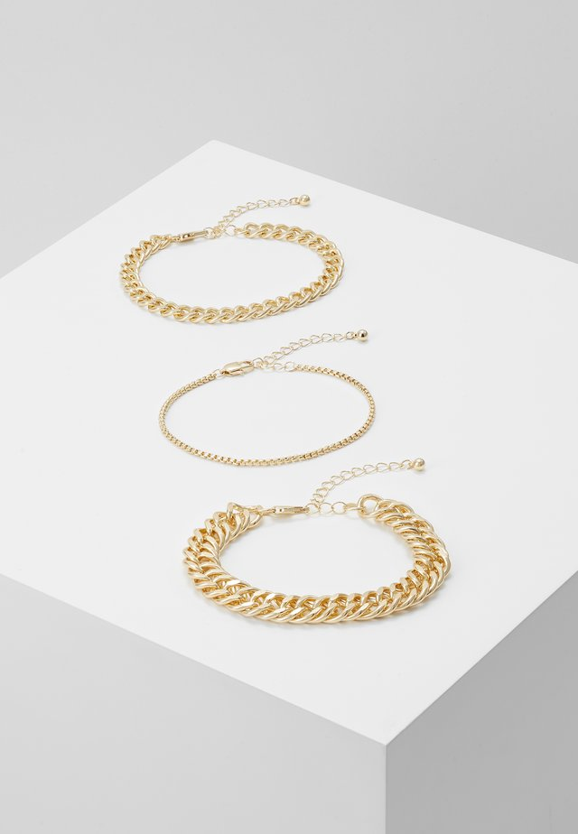 PCCHAIN BRACELET 3 PACK - Armband - gold-coloured