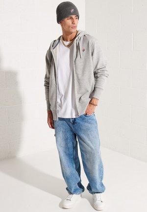 Zip-up sweatshirt - grey slub grindle