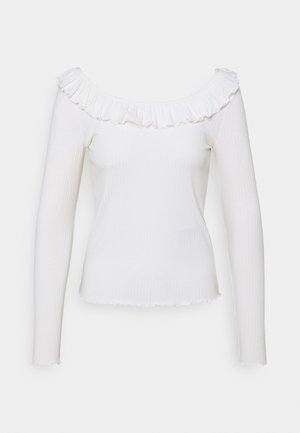 VMCLARA FRILL  - Long sleeved top - snow white