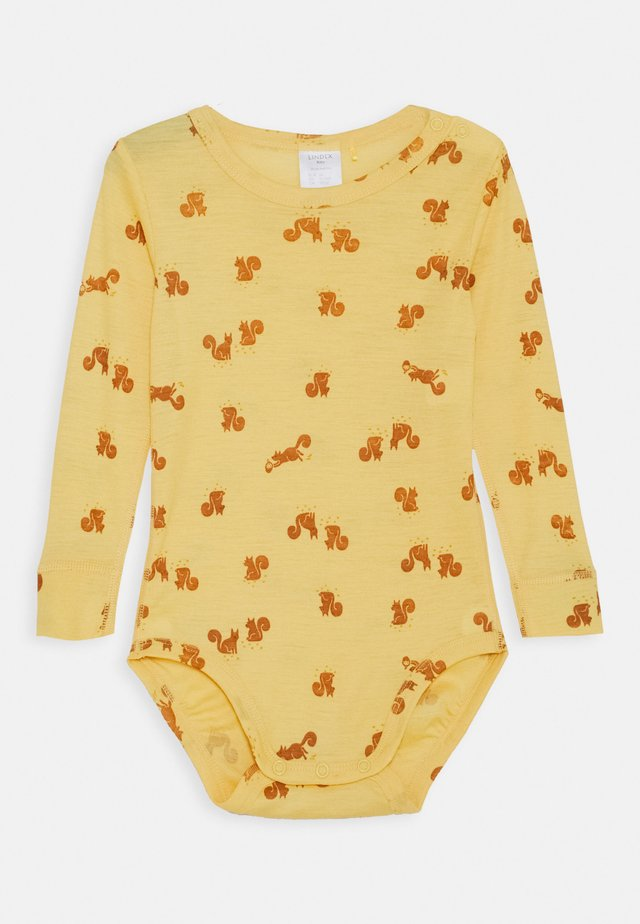 BABY WOOL PRINT UNISEX - Body - dusty yellow