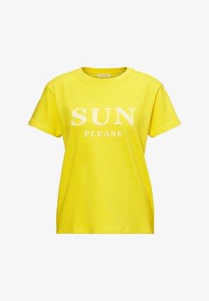 SHORT SLEEVE - Print T-shirt - sunny lime