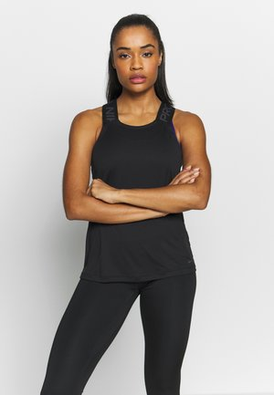 DRY ELASTIKA TANK - Sports shirt - black/thunder grey