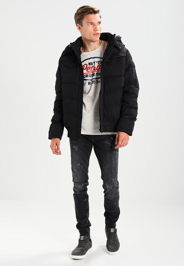 Cars Jeans CAVIN - Jeansy Slim Fit - black used/czarny denim Odzież Męska ZASF