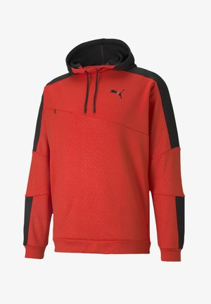 TRAIN ACTIVATE HOODIE - Luvtröja - red