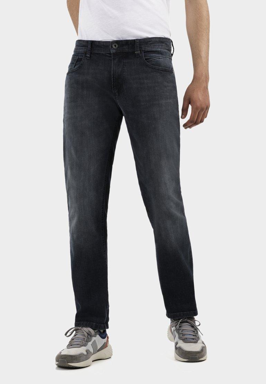 camel active - Straight leg jeans - black ink blue
