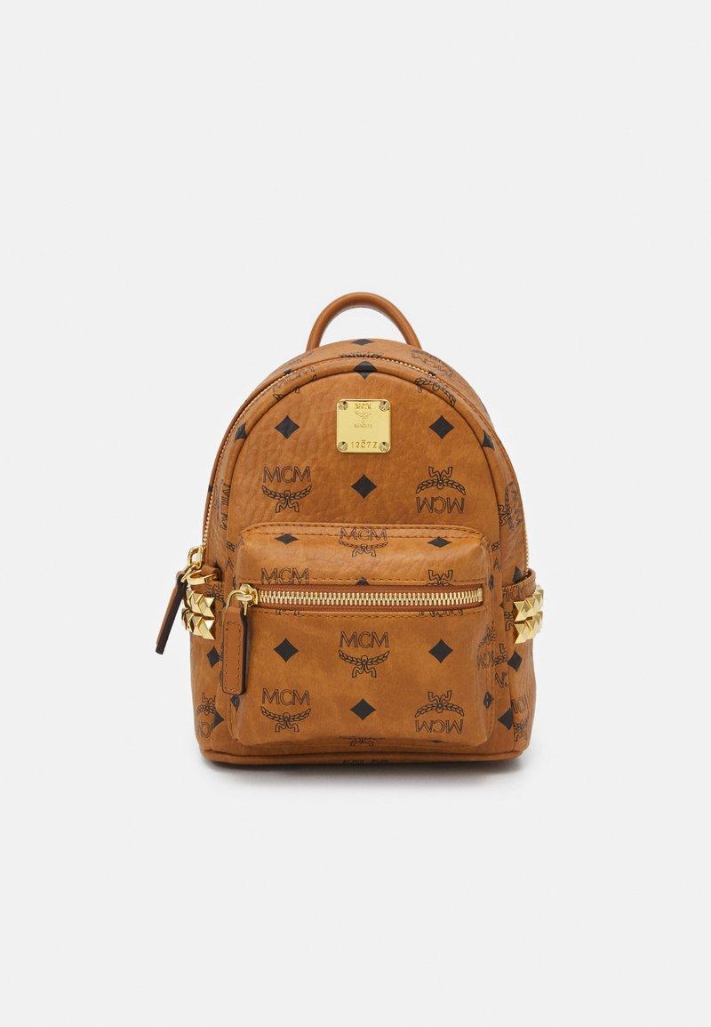 MCM - STARK BACKPACK MINI - Sports bag - cognac