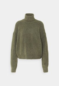 Weekday - AGGIE TURTLENECK - Jumper - olive green melange - 4