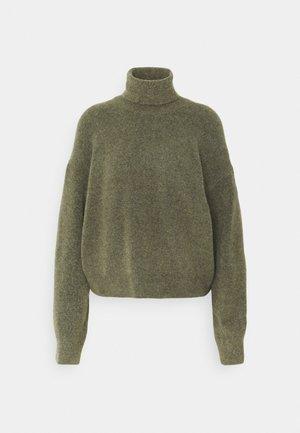 AGGIE TURTLENECK - Jumper - olive green melange