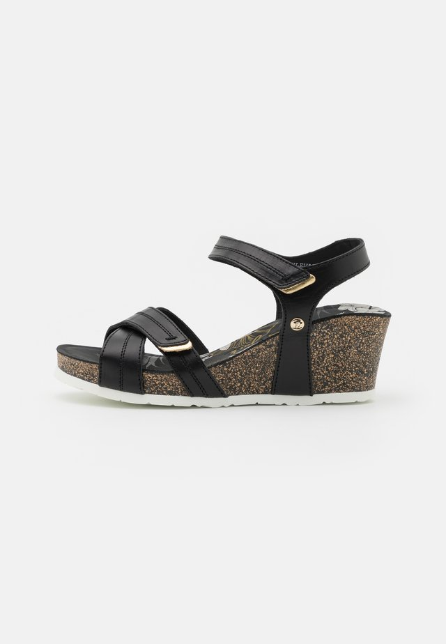 VIERI BOULEVARD PULL-UP - Platform sandals - black