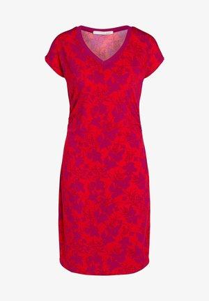 Shift dress - red violett