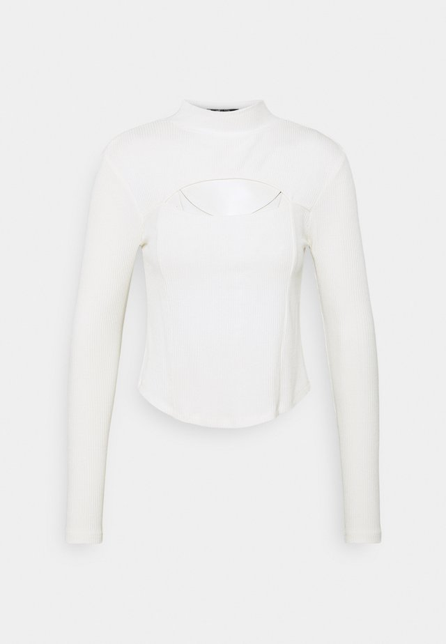 CUT OUT CHEST DETAIL  - Topper langermet - off white