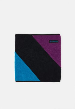 GAITER - Snood - black/fjord blue/plum