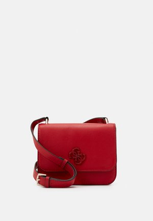 NOELLE MINI CROSSBODY FLAP - Across body bag - red