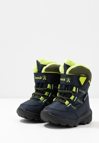Kamik - STANCE - Winter boots - navy/lime/marine/citron - 3