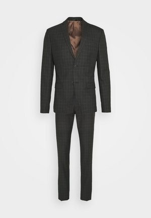 CHECK SUIT SET - Costume - grey