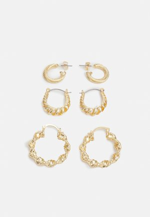 PCZAIMA EARRINGS 3 PACK - Pendientes - gold-coloured
