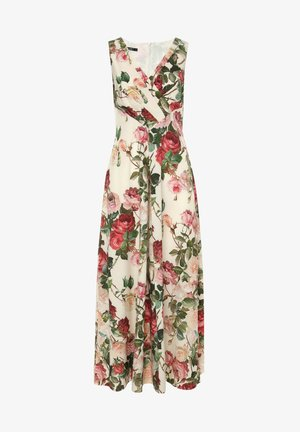 VESPANA - Day dress - milchig, weinrot