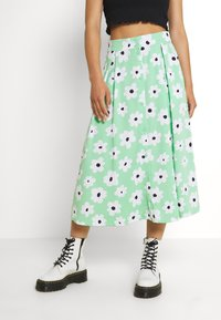 Monki - SIGRID BUTTON SKIRT - A-line skirt - green light - 0