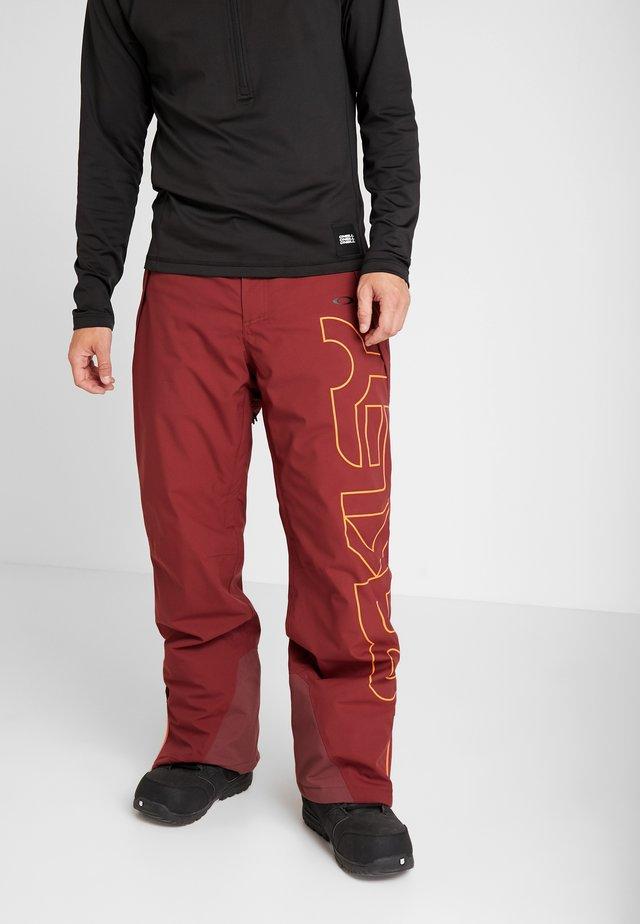 CEDAR RIDGE PANT - Pantaloni da neve - oxblood red