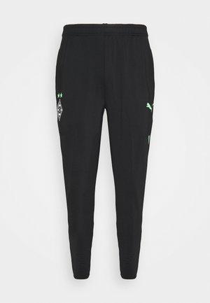 BORUSSIA MÖNCHENGLADBACH TRAINING PANTS CORE - Club wear - black/elektro green