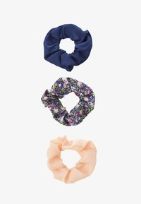 Pieces - PCFLORRIE SCRUNCHIE 3 PACK - Hair Styling Accessory - navy blazer/peach - 1