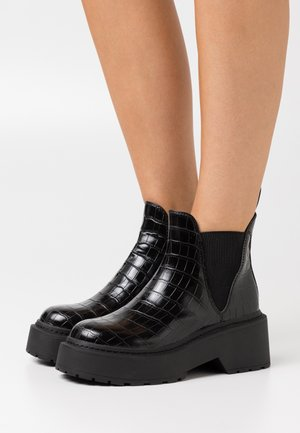 SHADOW - Platform ankle boots - black