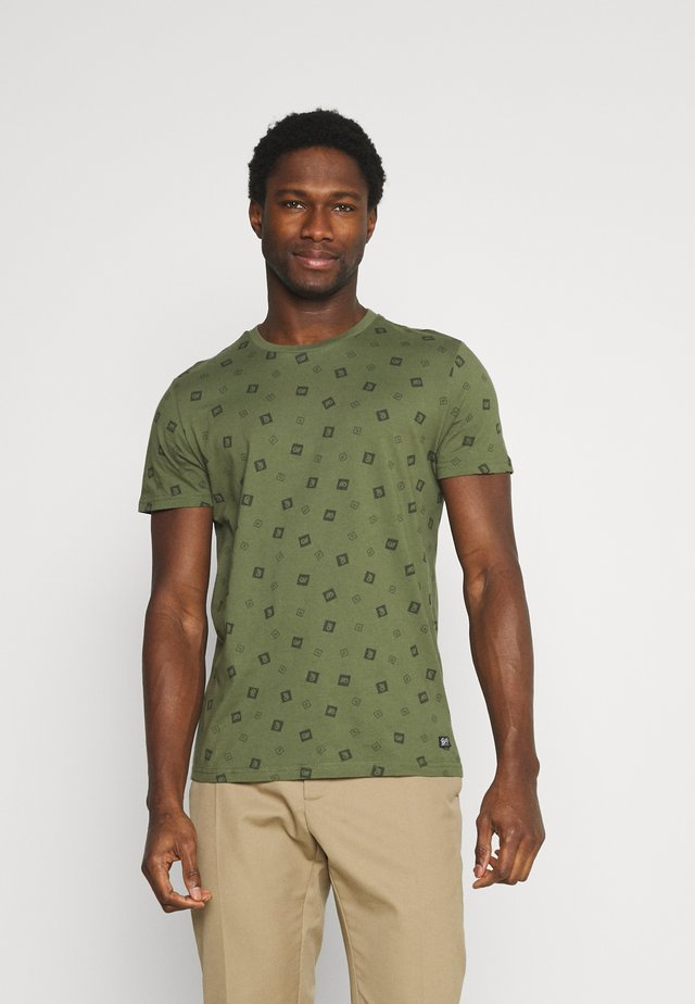 T-shirts med print - dusty army
