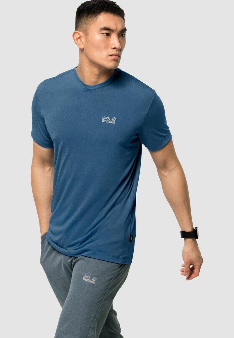 Jack Wolfskin - JWP T M - Basic T-shirt - indigo blue