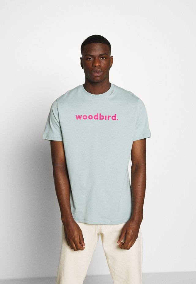 KARL LOGO TEE - T-shirt imprimé - mint