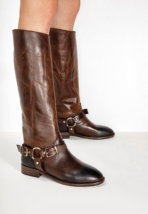 Cowboy/Biker boots - praline