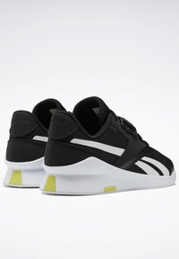 Reebok - LIFTER PR II - Sports shoes - black/white/chartr - 5