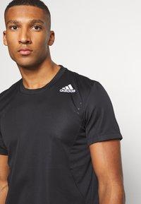 adidas Performance - HEAT.RDY TRAINING SLIM SHORT SLEEVE TEE - T-shirt print - black - 3