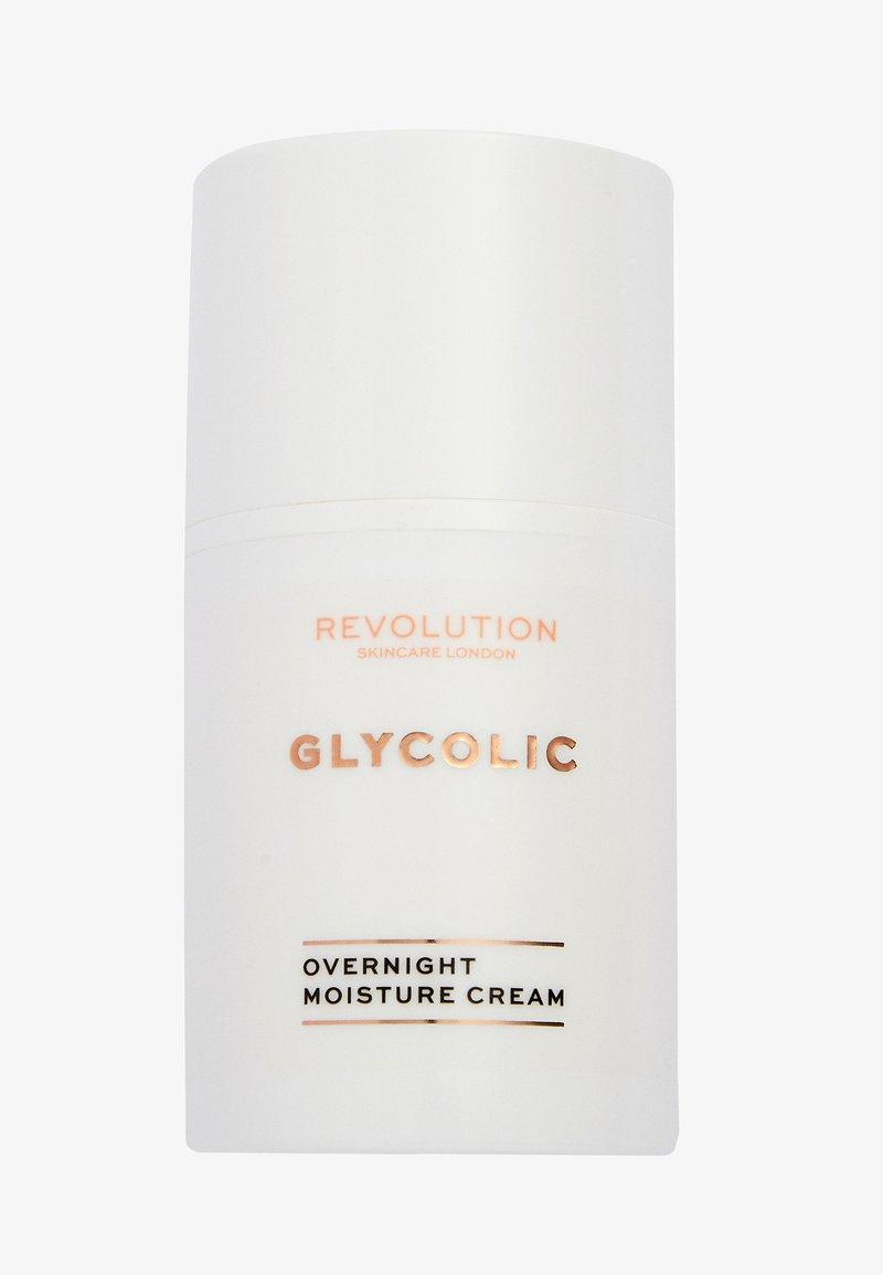 Revolution Skincare - GLYCOLIC ACID GLOW OVERNIGHT CREAM - Night care - -