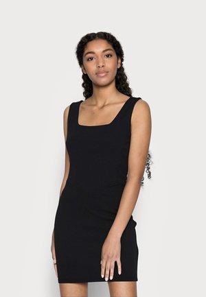 CORSET DETAIL MINI DRESS - Shift dress - black
