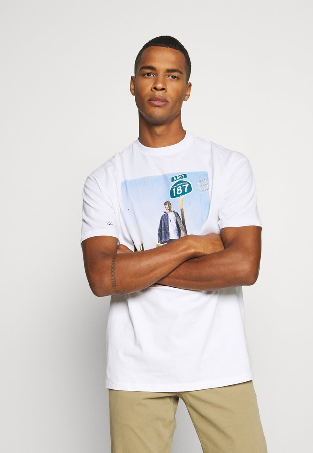 SNOOP 187 - T-shirt med print - white