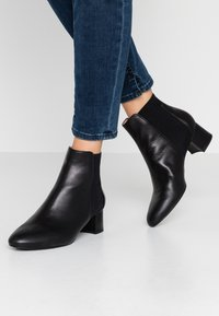 Unisa Wide Fit - LAYER - Ankle Boot - black - 0