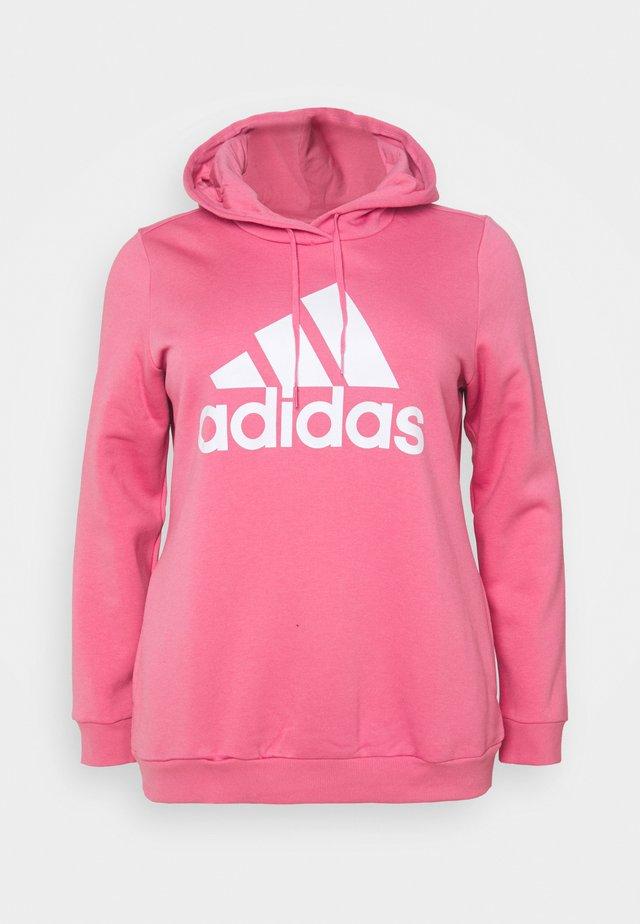 Sweatshirt - rose/white