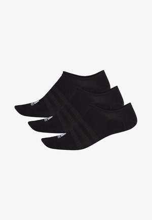 LIGHT NO-SHOW NO SHOW 3 PAIR PACK - Chaussettes de sport - black
